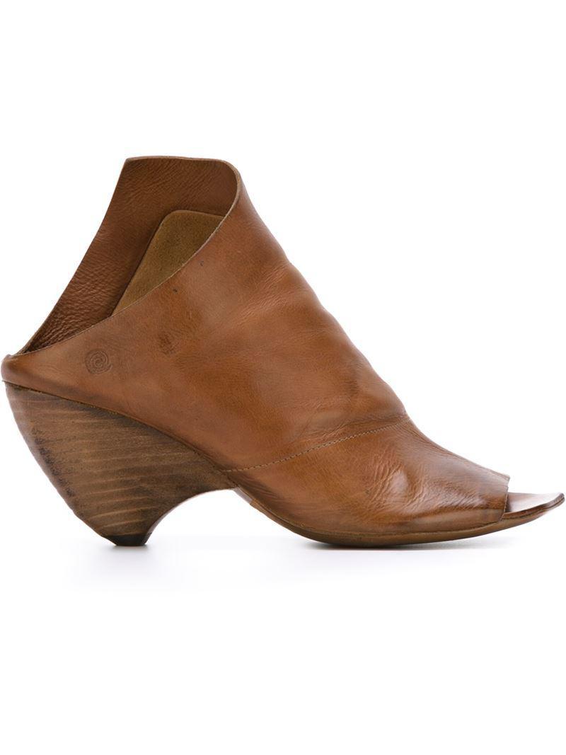 MARSèLL Open toe asymmetric sandals cFgSiWuJ