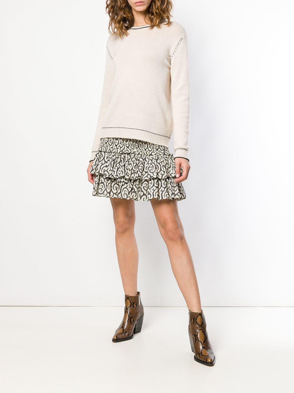 bb383de43 Lyst - Étoile Isabel Marant Ruffle Tiered Mini Skirt in White