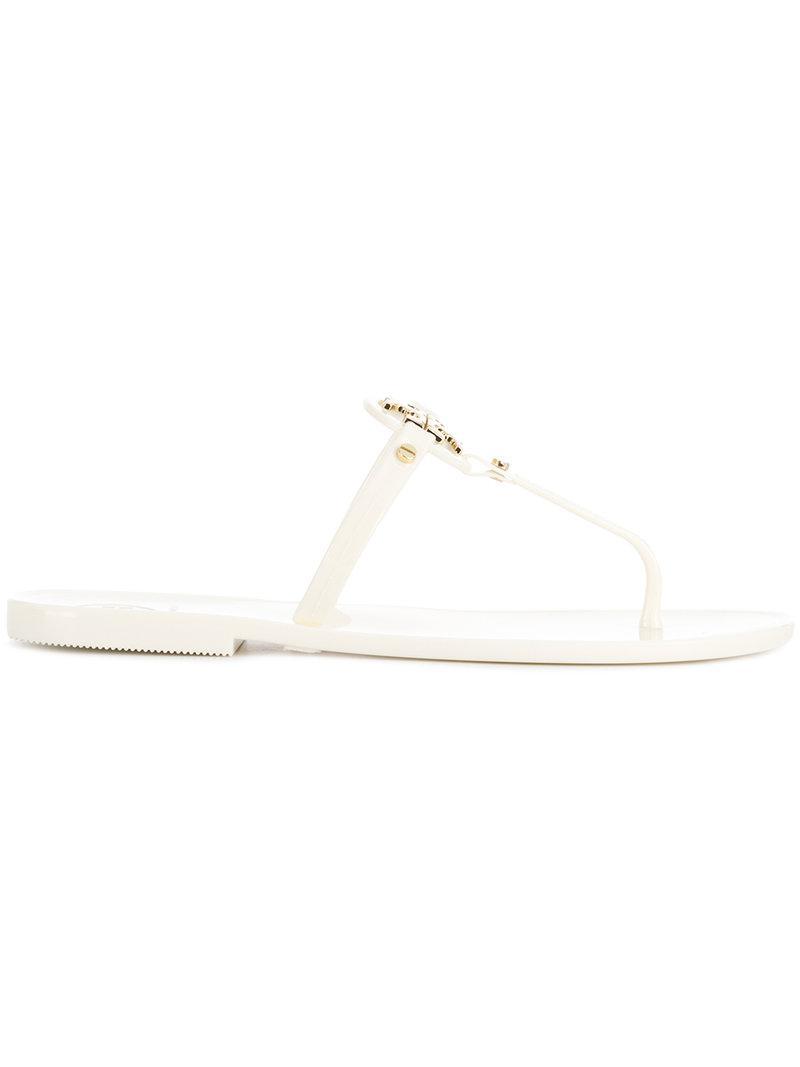 717fc4a17 Lyst - Tory Burch Liana Flat Sandals in White