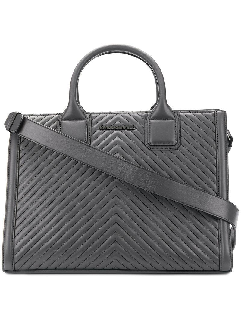 Klassik quilted tote bag - Grey Karl Lagerfeld GwlzK
