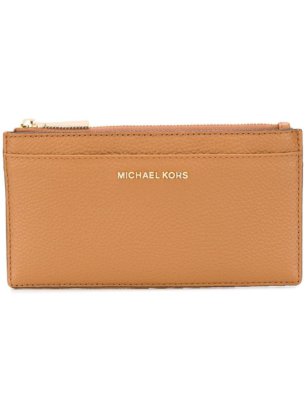 61748e3b7f88 Lyst - MICHAEL Michael Kors Acorn Wallet in Brown