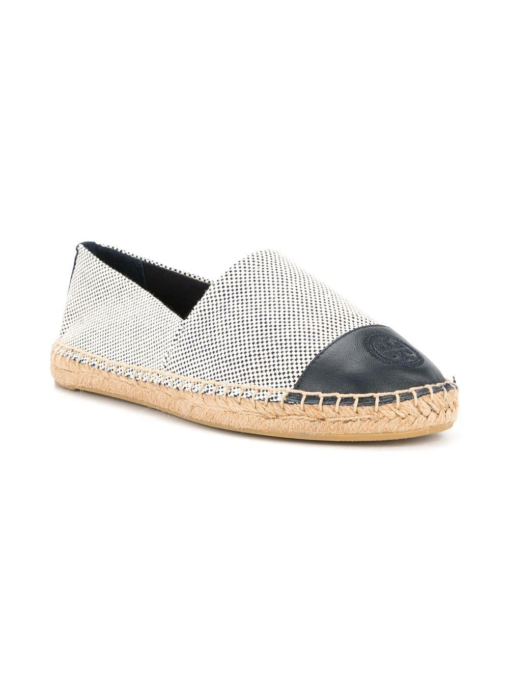 32aa64792af3 Tory Burch Colour-block Espadrilles in White - Lyst