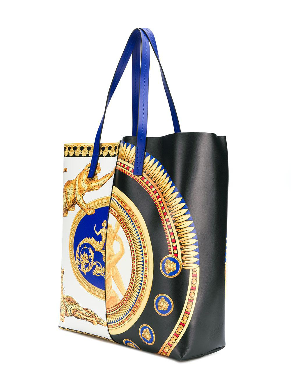 84f5967a30 Lyst - Versace Baroque Print Tote Bag in Black