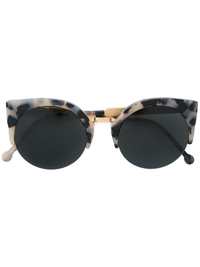 fe7289187b6 Retrosuperfuture Puma Printed Sunglasses in Metallic - Lyst