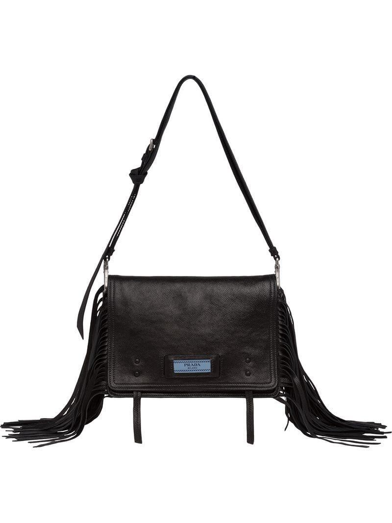 50383ab88f3c Lyst - Prada Etiquette Shoulder Bag in Black