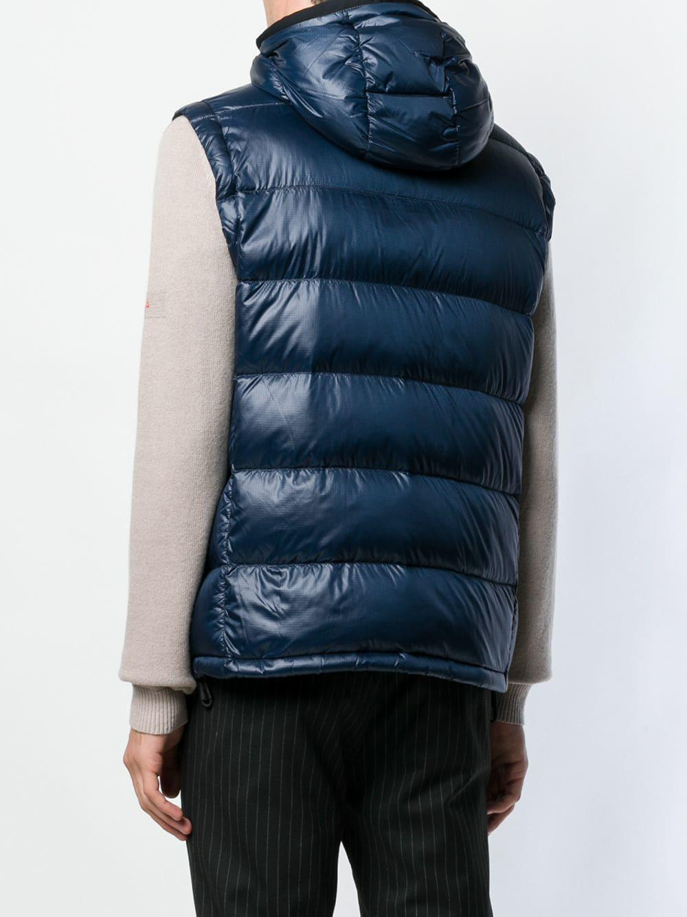 outlet store ccf6b ea21f Peuterey Hooded Padded Gilet in Blue for Men - Lyst
