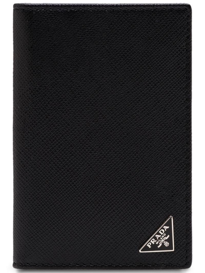98d53aa28f04ea Prada Leather Card Holder in Black for Men - Save 5% - Lyst
