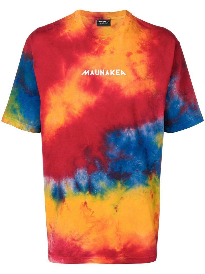 89d832a4a Mauna Kea Tie Dye Long T-shirt in Orange for Men - Lyst