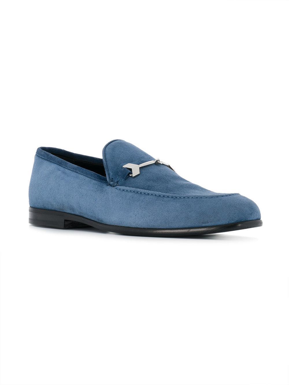 d4ae9734c8e Jimmy Choo - Blue Marti Loafers for Men - Lyst. View fullscreen