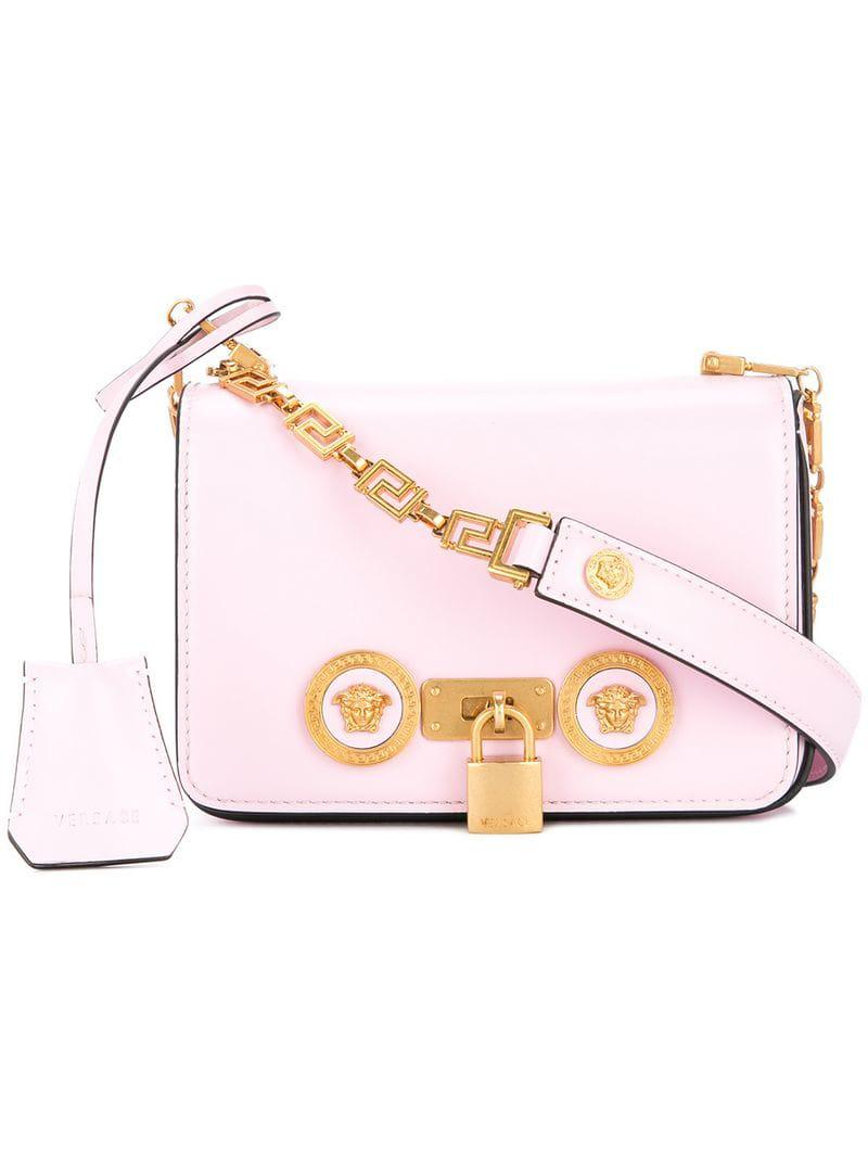 74b6503c0d95 Versace Crossbody Mini Bag in Pink - Lyst