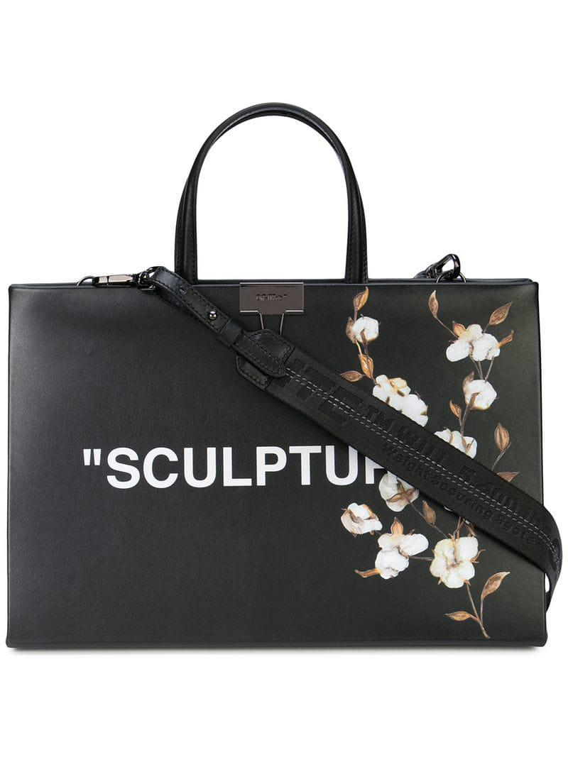 0a1c0d37b Off-White c/o Virgil Abloh Sculpture Tote Bag in Black - Lyst