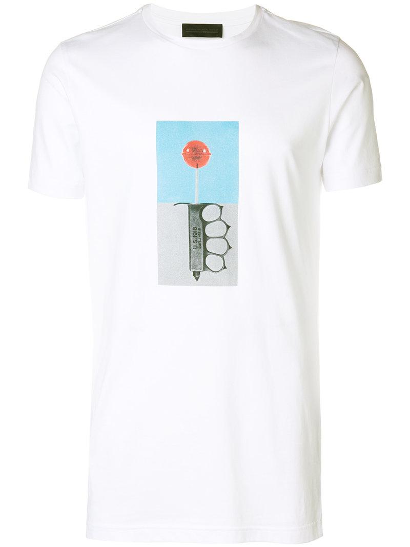 Lollypop print T-shirt - White Diesel Official For Sale Choice For Sale View For Sale 2018 Newest Sale Online Looking For 0Nfq97QPL