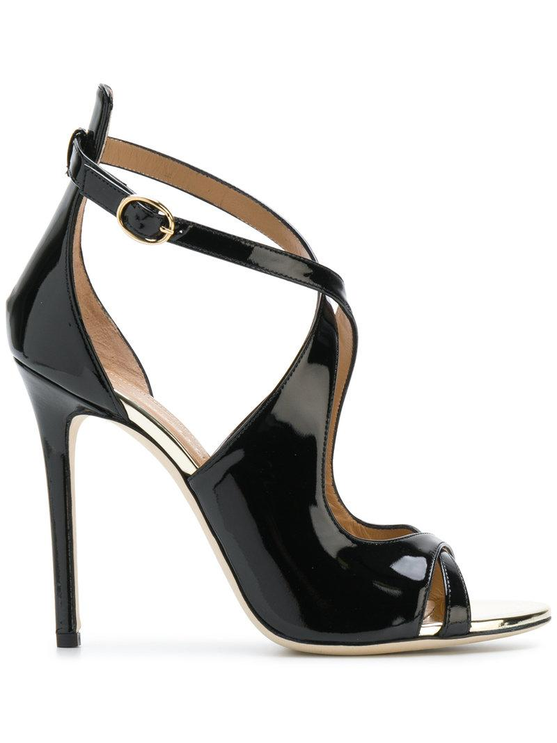 MARC ELLIS Crossover strap stiletto sandals