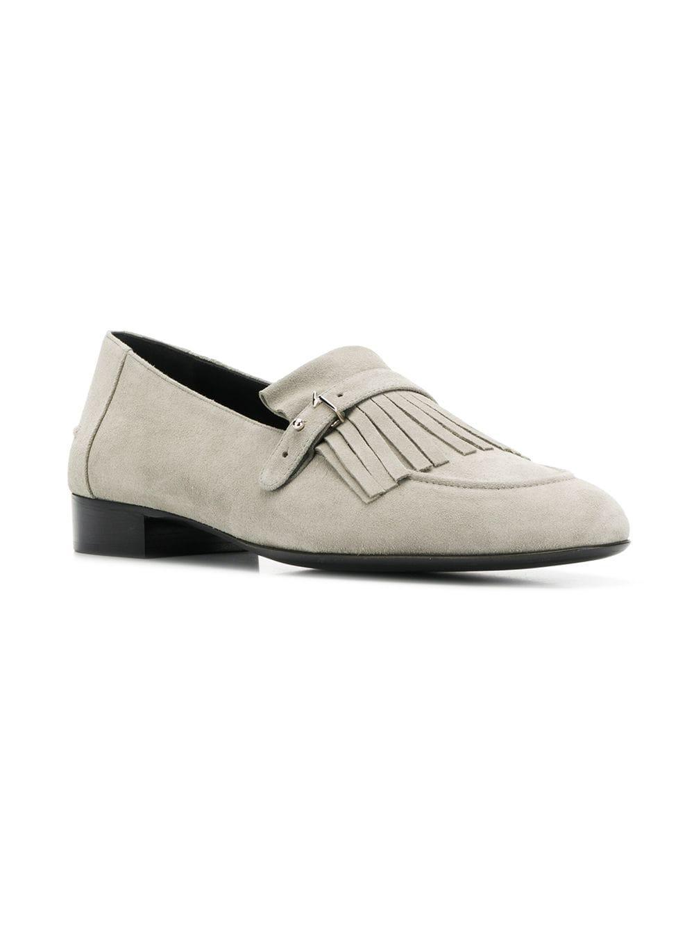 2cb9413d385 Giuseppe Zanotti - Gray Fringe Detail Loafers for Men - Lyst. View  fullscreen