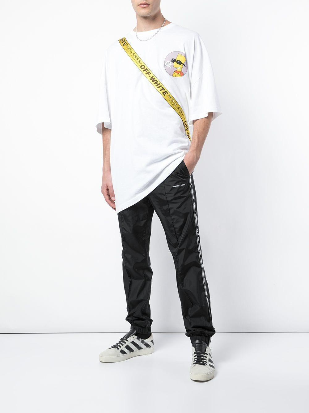 46c3ff7dc74 Lyst - T-shirt Bart Simpson oversize Off-White c o Virgil Abloh pour homme  en coloris Blanc