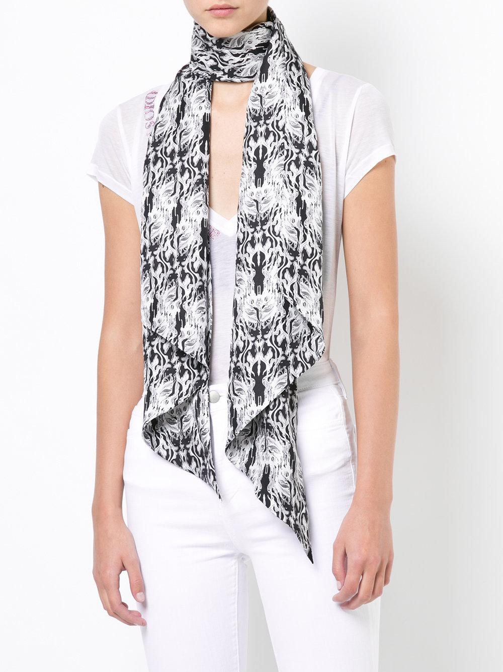 Metamorphosis printed scarf - Black Thomas Wylde wxgAjF