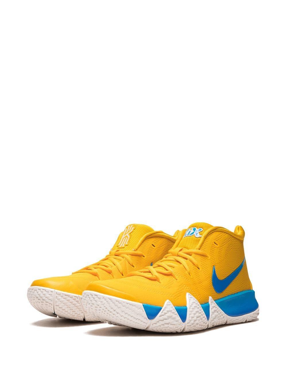 best sneakers 1dfbe 606d0 Nike Kyrie 4 Flyknit Sneakers in Yellow for Men - Lyst