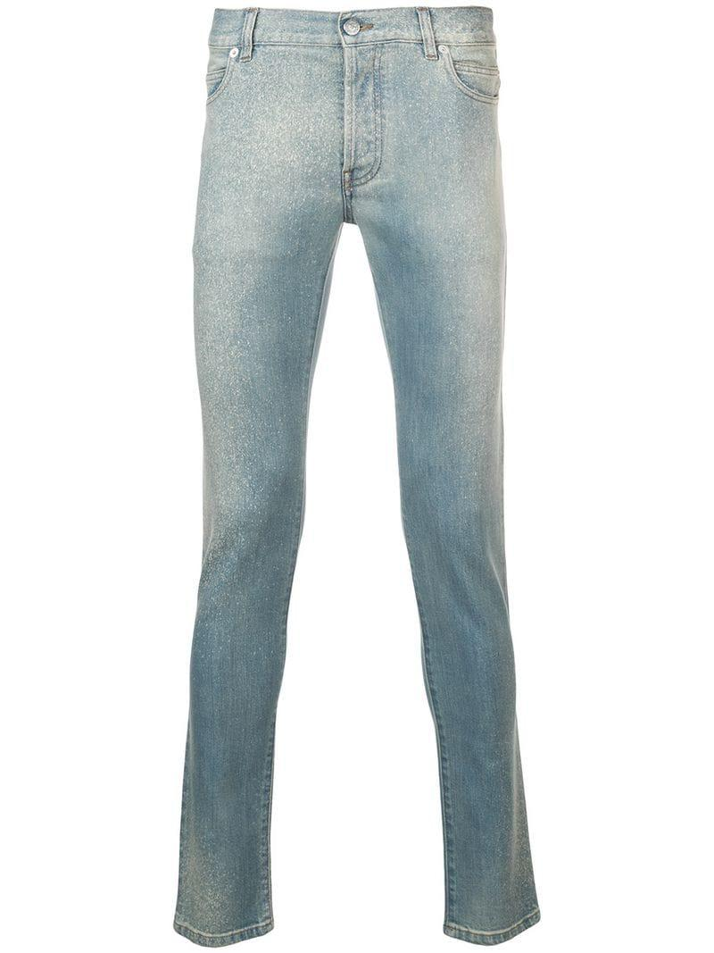 8fd05b62 Balmain Washed Out Jeans in Blue for Men - Lyst