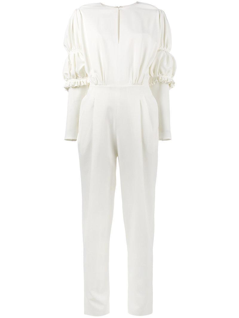 08fcd9864be Emilia Wickstead Barrett Jumpsuit in White - Save 25.104602510460253 ...