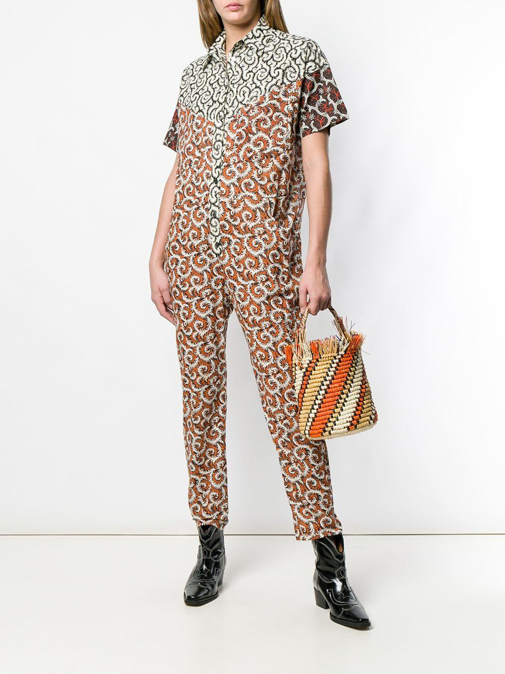 602f9ca6b8 Lyst - Étoile Isabel Marant All-over Print Jumpsuit in White