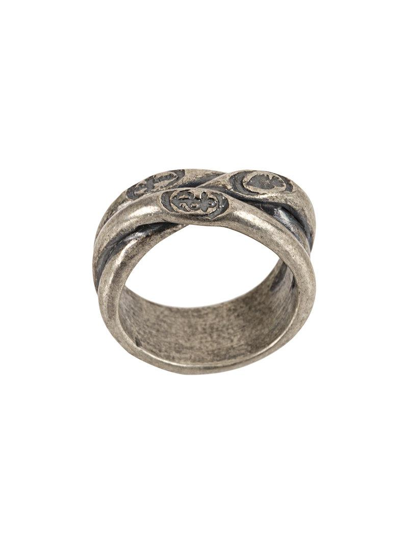 Tobias Wistisen antique oval ring - Metallic G0OmWb