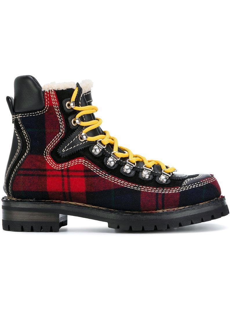 Dsquared2 Tartan mountain boots R3xnL