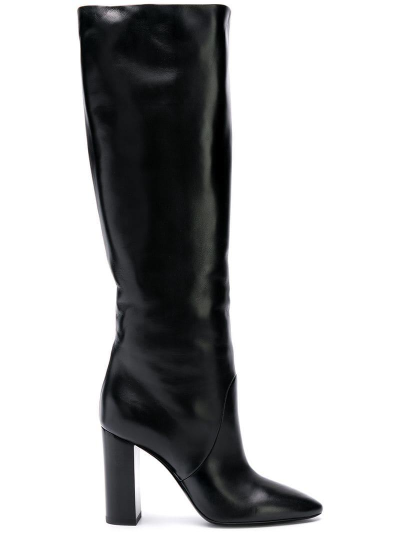1c1ba7a5a3b Lyst - Saint Laurent Lou Knee Boots in Black - Save 4%