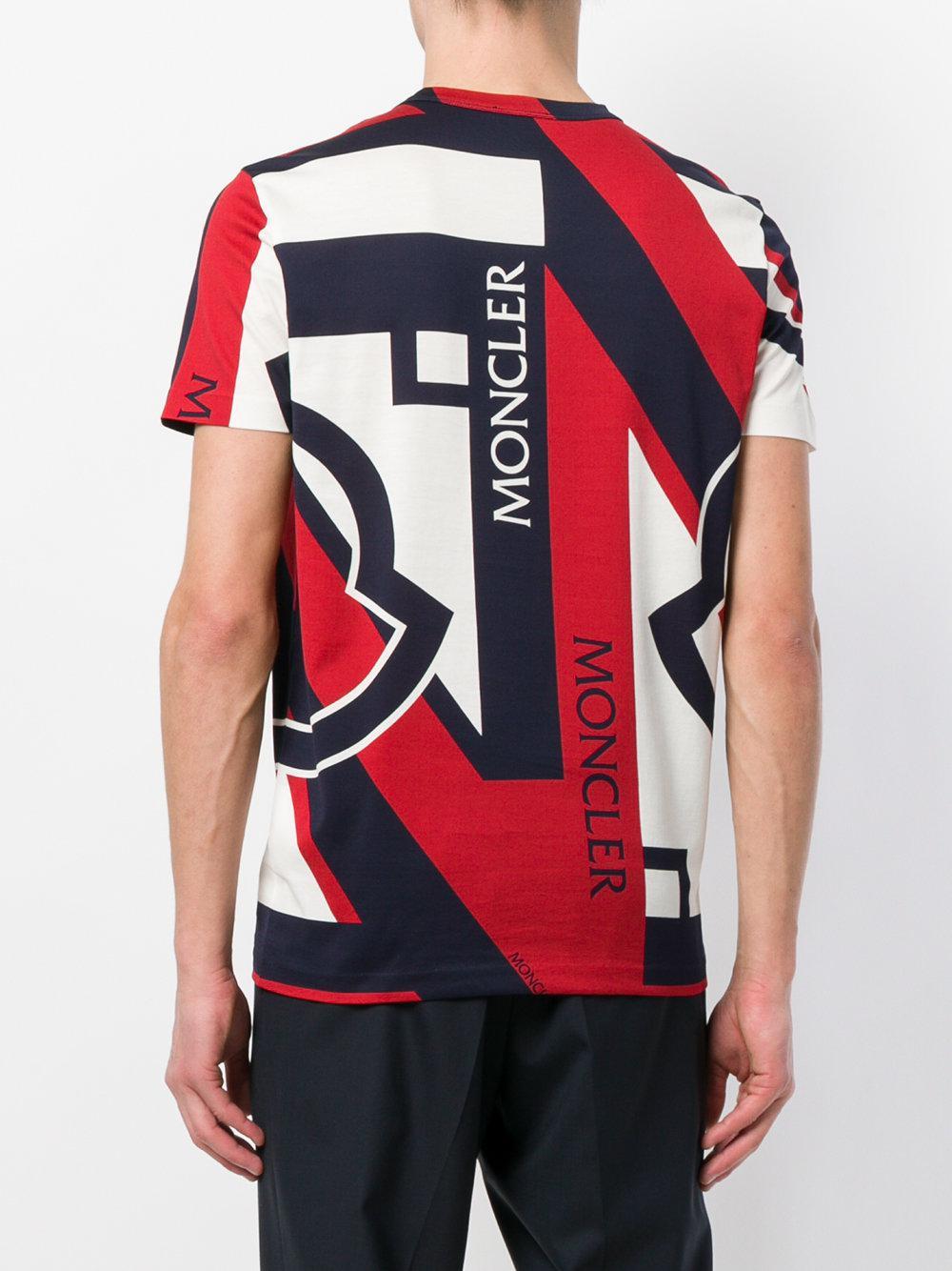 Moncler - Blue C X Craig Green Tri-colour Printed T-shirt for Men -. View fullscreen