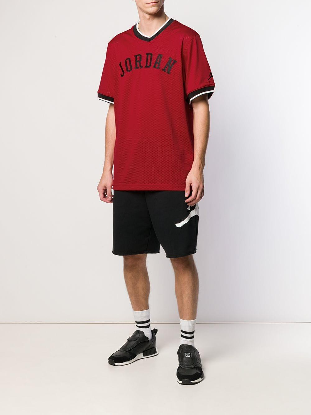 22f1146a6099 Nike Jordan Jump Man T-shirt in Red for Men - Lyst