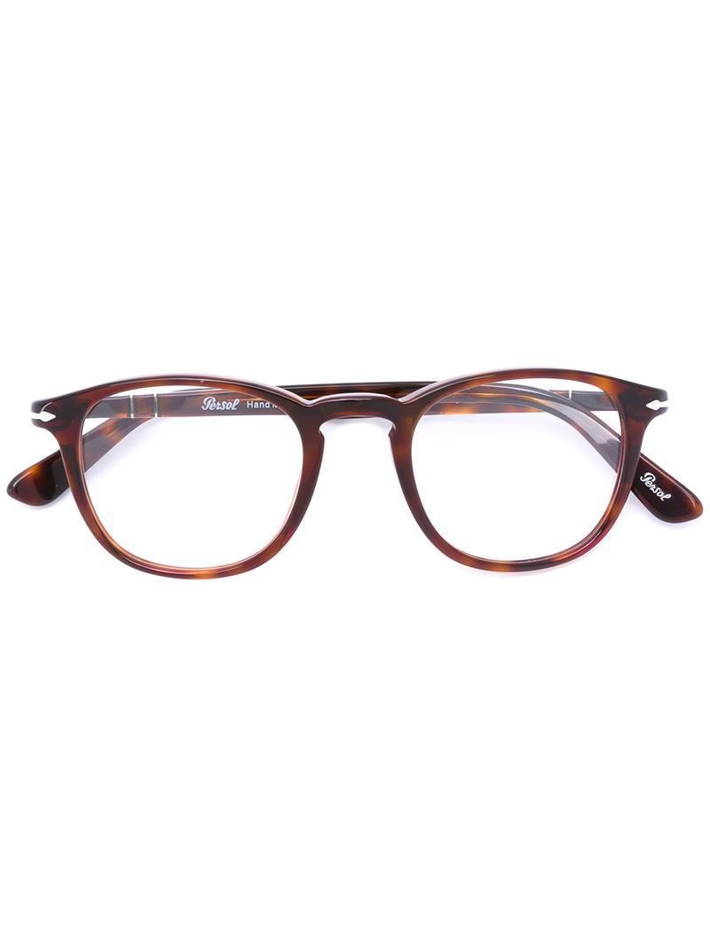 20c62f6843 Persol - Brown Po0714 Polarised Aviator Sunglasses for Men - Lyst. View  fullscreen