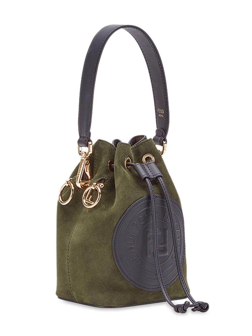 8eba763d5216 Fendi Green Mon Tresor Mini Bag in Green - Lyst