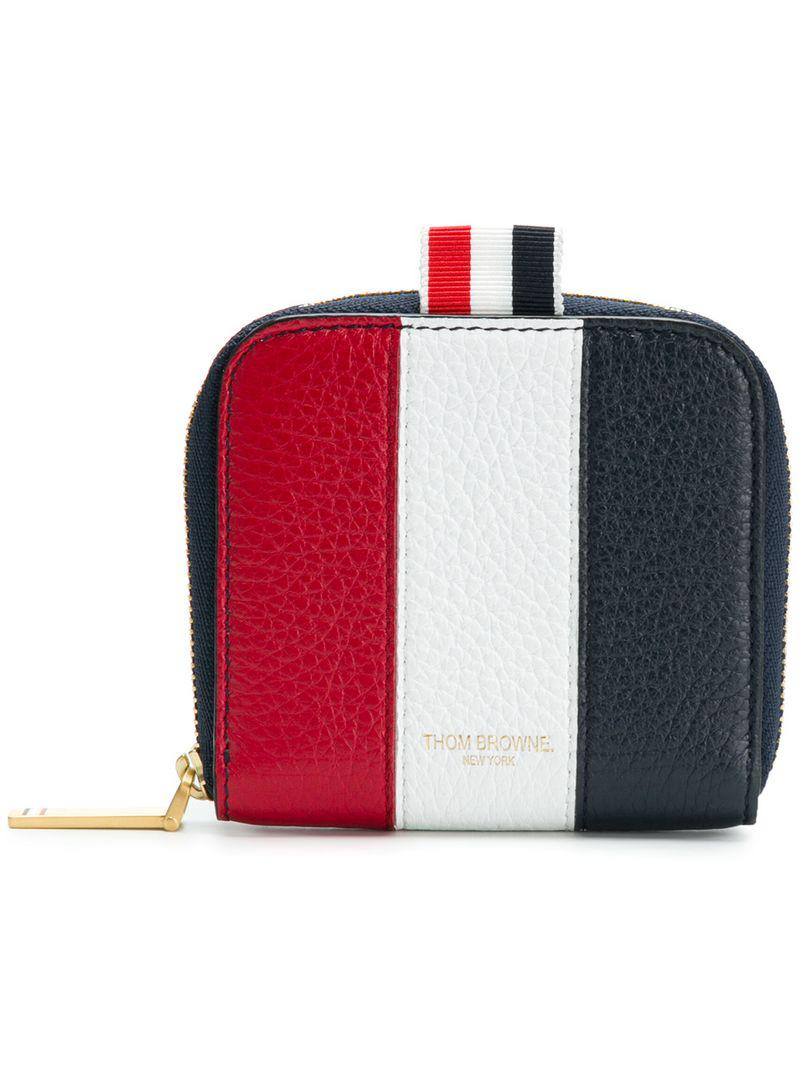 e296c0510e Thom Browne Seamed Panel Zip-around Cardholder In Deerskin in Blue ...
