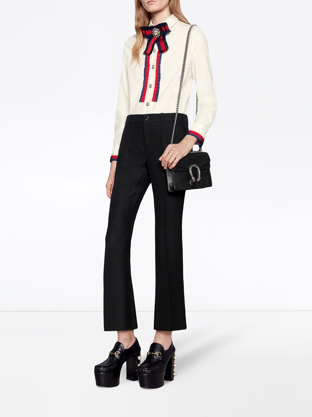 84ec014d225c Gucci Black Dionysus Mini Leather Bag in Black - Save 10% - Lyst
