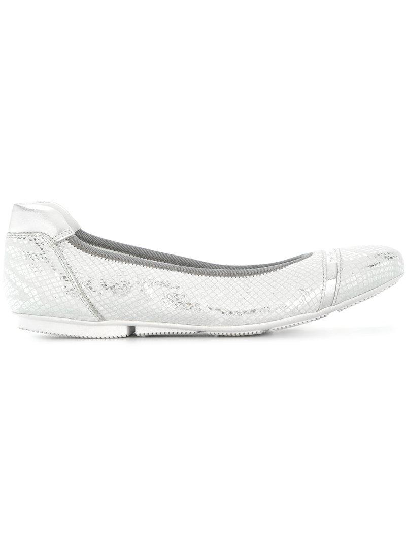 Hogan « Wrap » Chaussures De Ballerine - Noir t5H0J