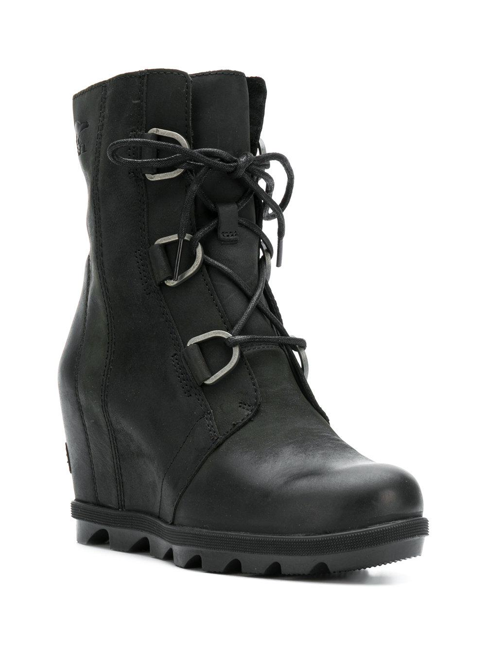 143fc474f77b Sorel - Black Ankle Lace-up Boots - Lyst. View fullscreen