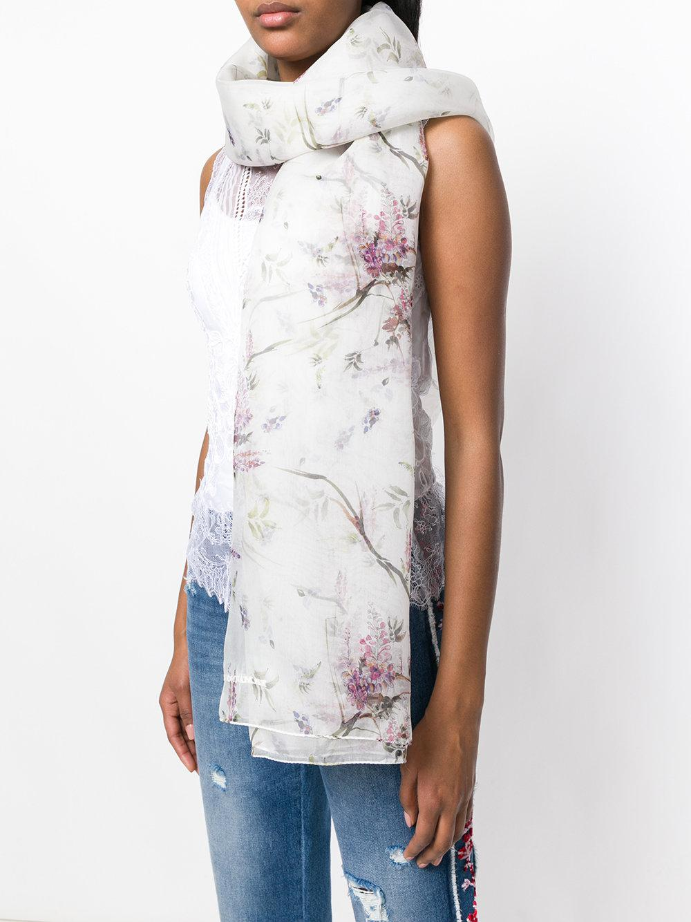 Outlet Supply Ermanno Scervino abstract floral print scarf Marketable For Sale Cheap Sale Wholesale Price Good Selling Sale Online Low Price Fee Shipping PcLqF2jf