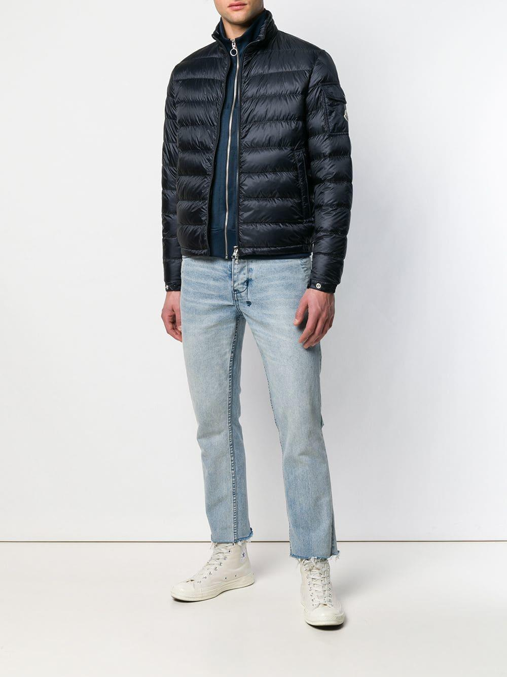 660a85a6209a Lyst - Moncler Lambot Quilted Jacket in Blue for Men