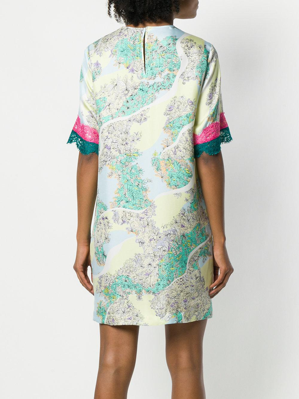 lace insert T-shirt dress - Multicolour Emilio Pucci Discount Visit Clearance Online Cheap Real Low Cost Outlet Brand New Unisex G3xAw1Fu