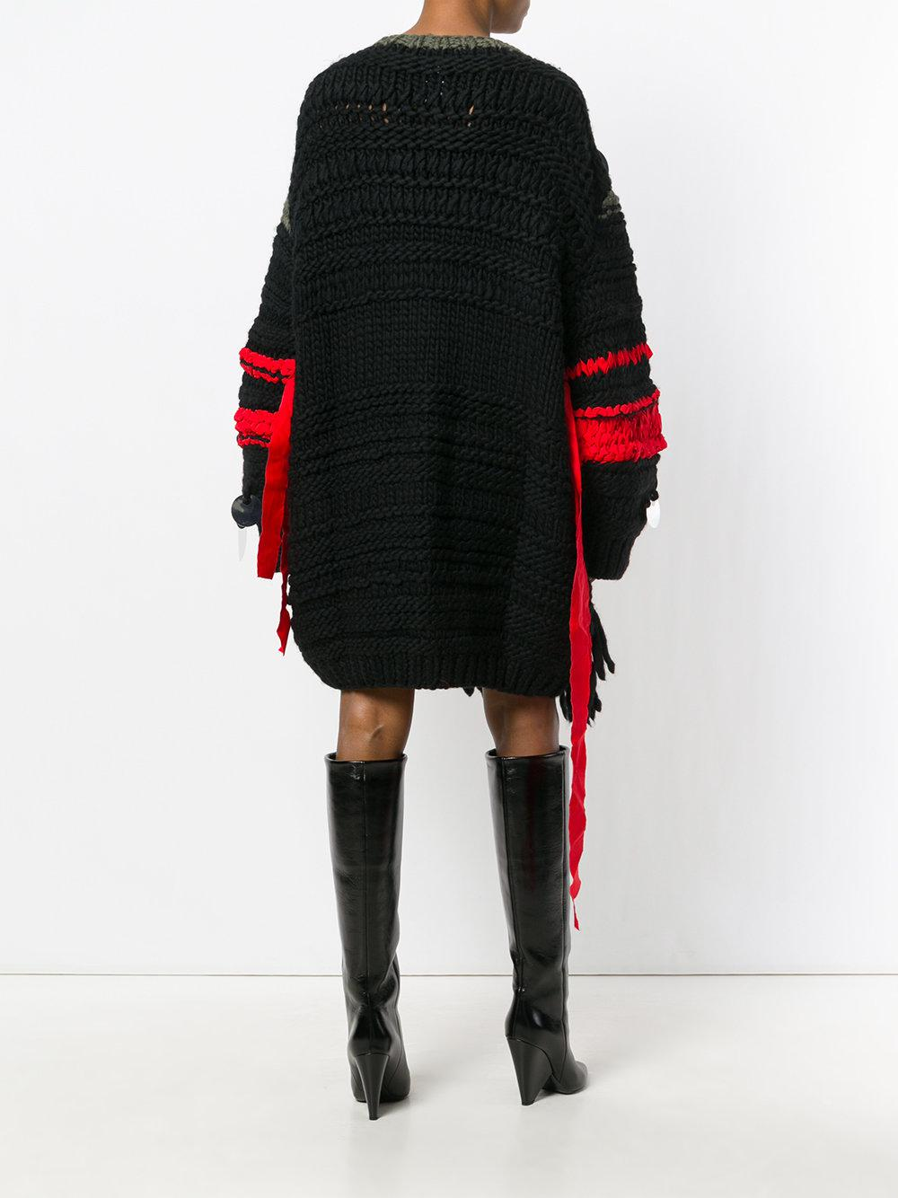 Ports 1961 Oversized Sequin Sweater Dress in Black | Lyst