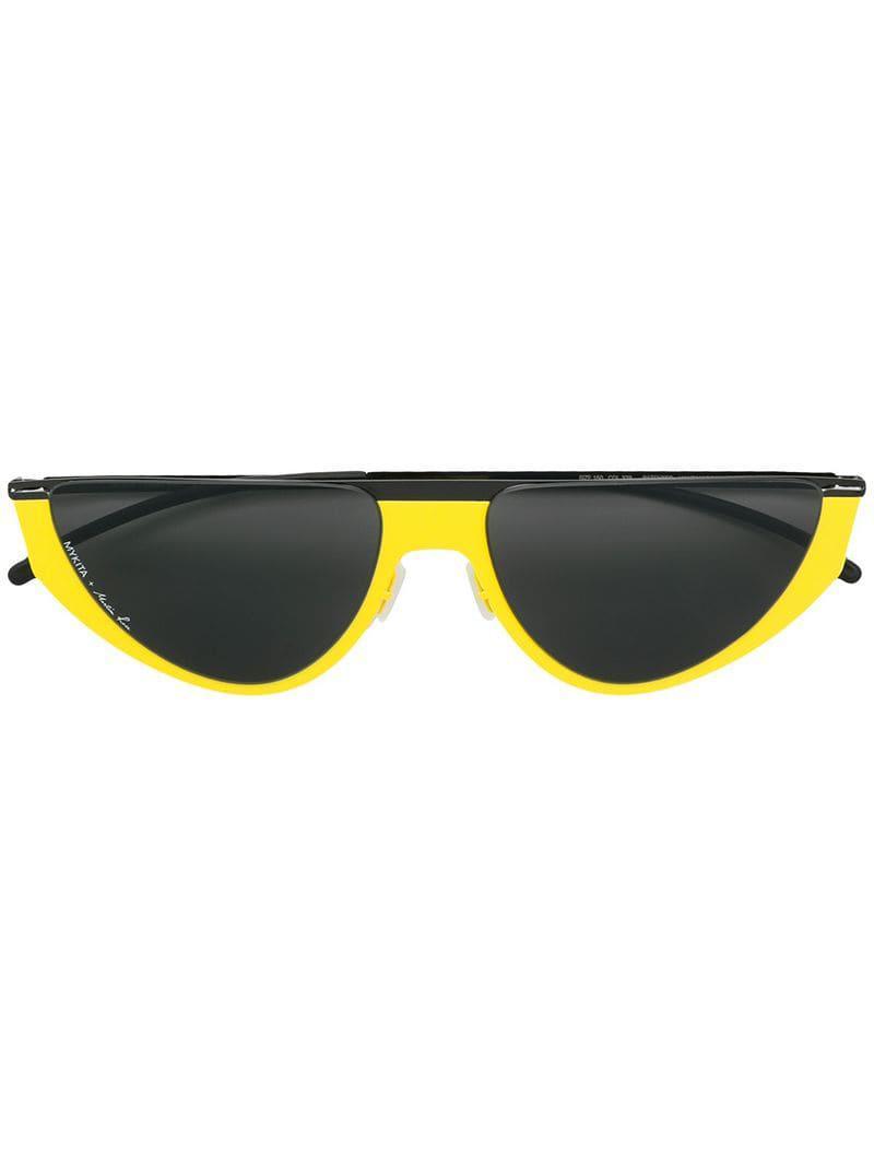 aedd658ec18 Mykita + Martine Rose Selina Sunglasses in Yellow - Lyst
