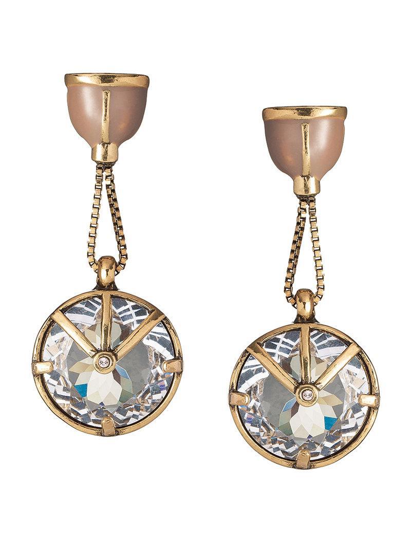 Camila Klein strass embellished drop earrings - Metallic Ovho3f4rJM