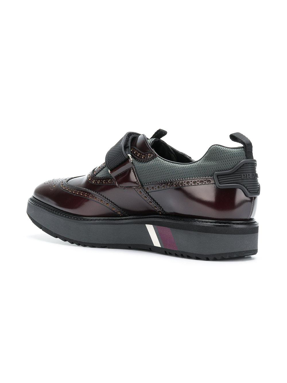 touch strap fastening shoes - Pink & Purple Prada