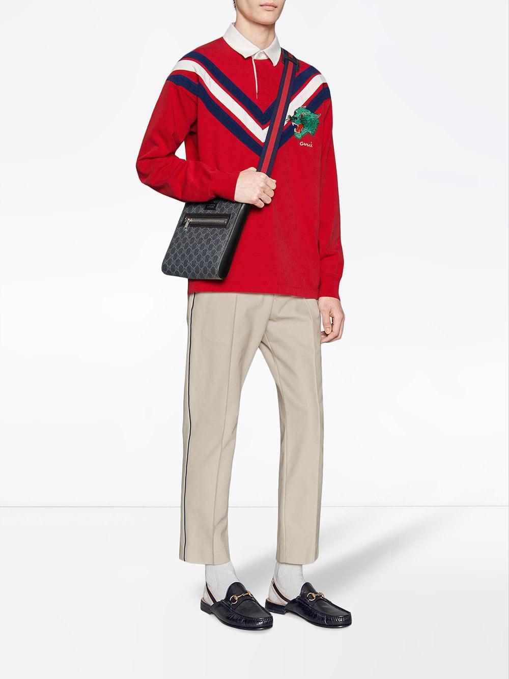 080b0e5470f7 Gucci GG Supreme Small Messenger Bag in Black for Men - Lyst
