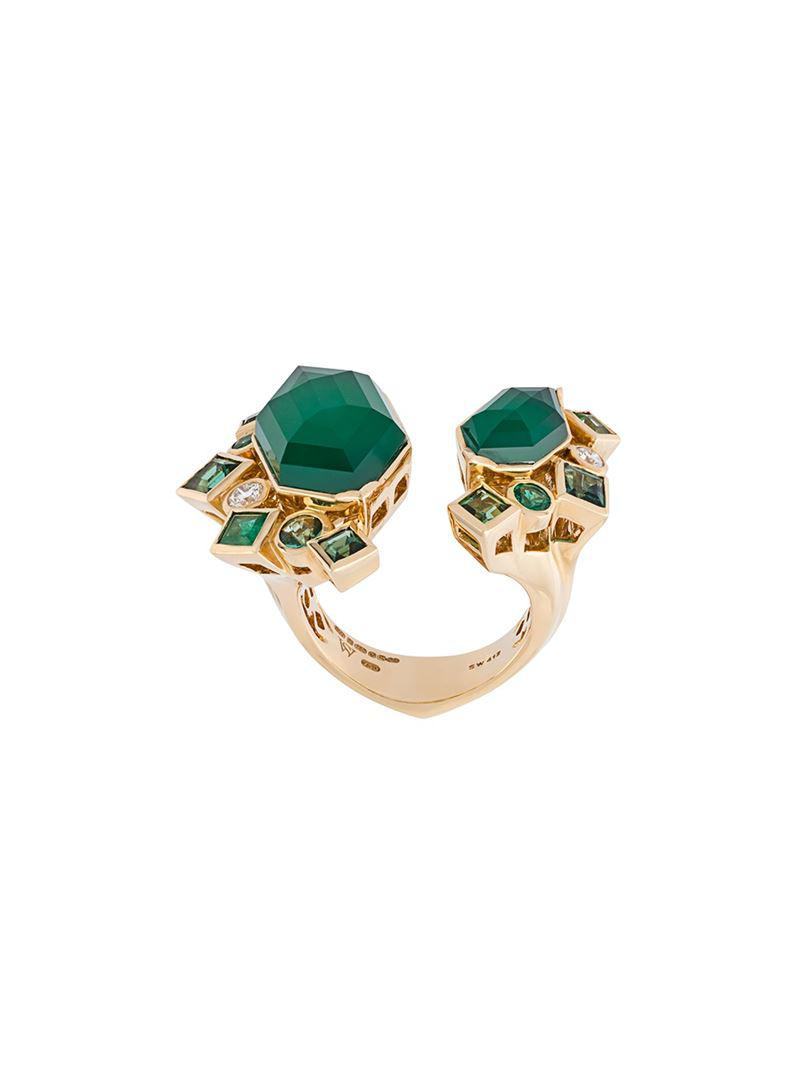 Stephen Webster 'Crystal Haze' emerald and diamond ring Big Sale Online 0YhpA0RI