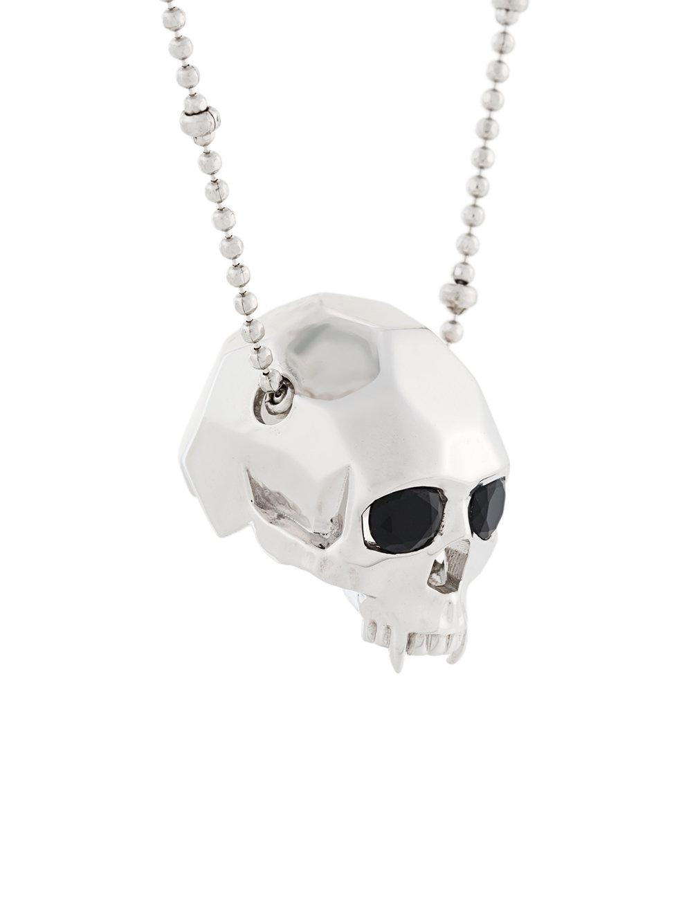 vampire skull pendant necklace - Metallic Kasun London jtiuWzjBvf