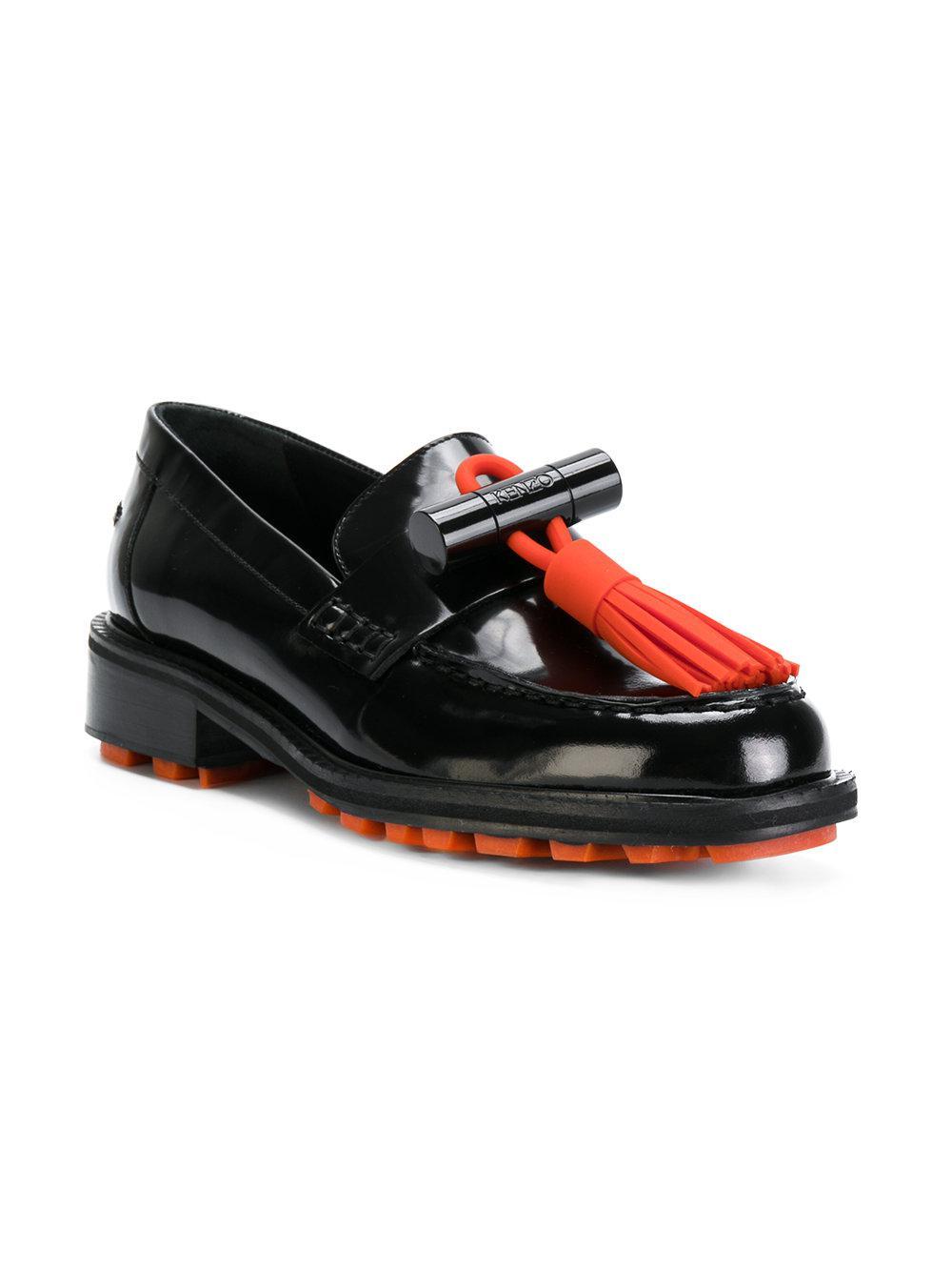 13eb66f318a Lyst - KENZO Georgia Loafers in Black