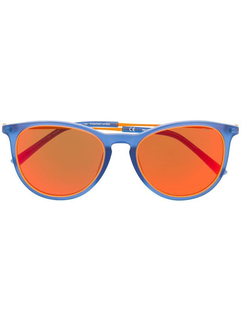 95326d345c ... Gafas de sol con montura redonda for Men - Lyst. Ver en pantalla  completa