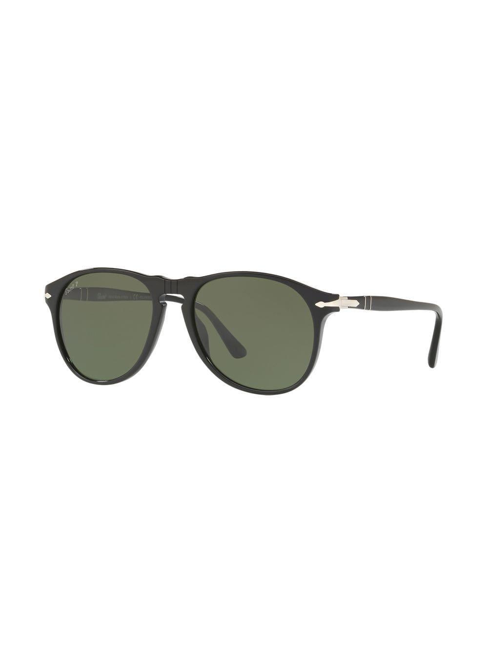 cd64e33f3f Persol Folding Aviator Sunglasses in Black for Men - Lyst