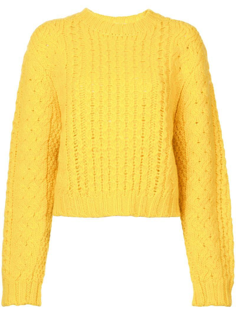 b8cb1e3900f R13 Chunky Knit Sweater in Yellow - Save 19% - Lyst