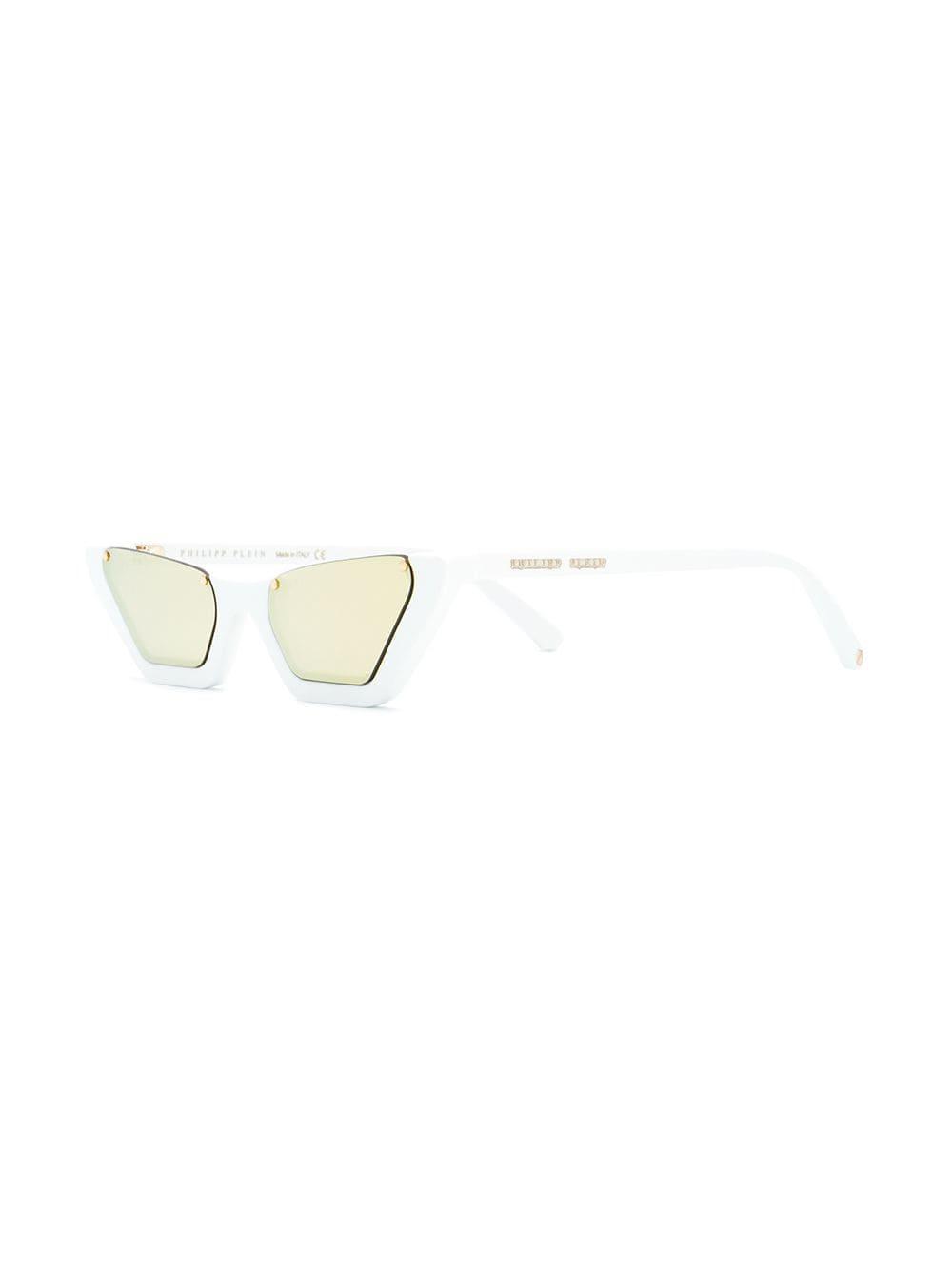4046e12b318 Philipp Plein Cut-out Slim Sunglasses in White - Lyst